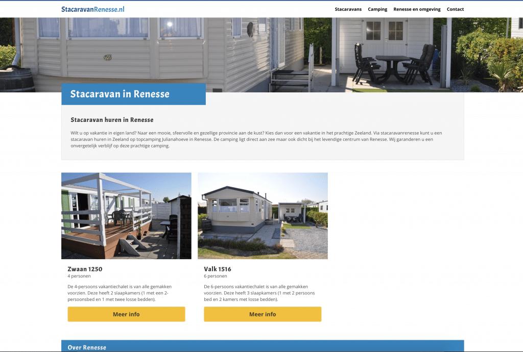 Stacaravans website