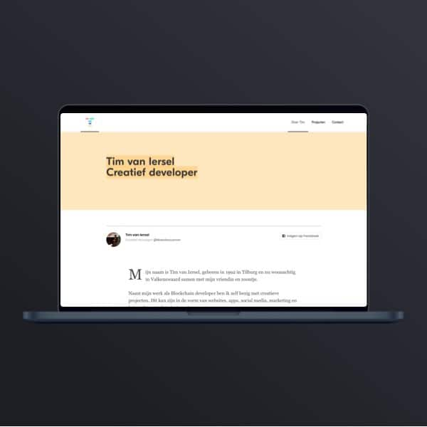 Webdesign Tim van Iersel